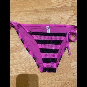 Pink adjustable bathing suit bottom